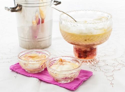 Peach trifle