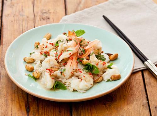 Warm prawn salad recipe