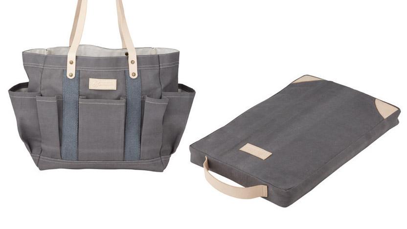 Garden Tote Bag $49.99, Kneeling Pad $39.99